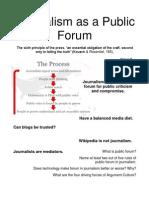 Journalism as a Public Forum