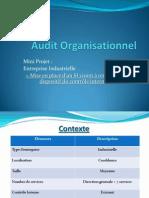 Présentation Audit Organisationnel