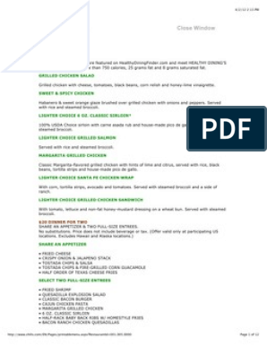 image relating to Chili's Menu With Prices Printable called printable menu chilis Salad Hamburgers
