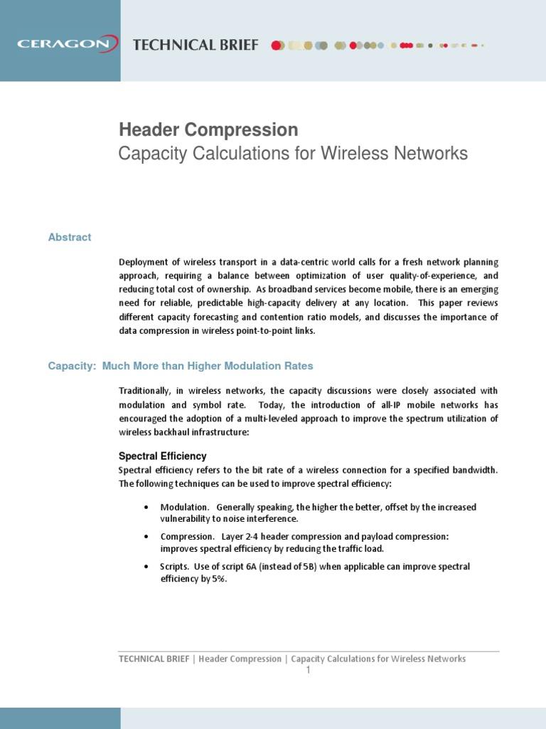 Ceragon Header Compression - Technical Brief - PDF | Network Packet