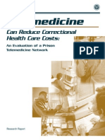 Telemedicine Corretional Health Care Cost