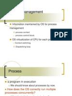 Lecture 8 Process Management