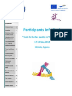 Tools for Better Quality of Participants' Info Pack