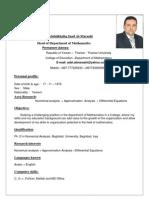 CV of Prof English