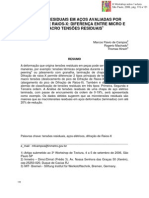 Tensao Residual Em Acos Usando DRX