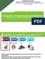 Arquitetura de aplicações web. Web Servers. Protocolo HTTP