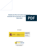 Modelo de Plan de Acción Local para la Inclusión de las personas con discapacidad 2012-2015