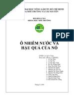 O Nhiem Nuoc Va Hau Qua Cua No - DH08DL