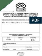 Caderno de prova