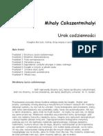 Csikszentmihalyi Mihaly - Urok codzienności