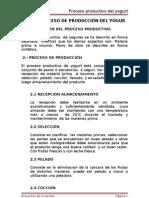 PROCESO DE PRODUCCIÓN DEL YOGUR