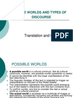 6. Possible Worlds and Types of Discourse. Translation and Trans-lation