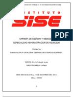 FABRICACIÓN Y CANALES DE DISTRIBUCION BORCEGUIES MASEL