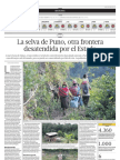 La selva de Puno, otra frontera desatendida
