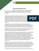 Sauren Fondsmanager-Rating Update März 2012