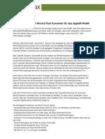 Infovole präsentiert Word-2-Text Konverter für das Apple® iPad®