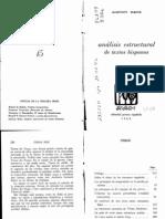 Belic Oldrich - Análisis estructural de textos hispanos - Los principios de composición en la novela picaresca