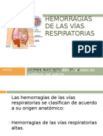 HEMORRAGIAS DE LAS VÍAS RESPIRATORIAS