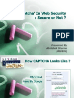 Captcha' In Web Security