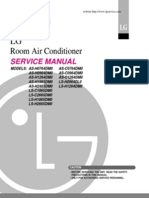 LG Split Type Air Conditioner Complete Service Manual | Air ... on