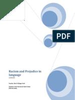 Racism and Prejudice in Language