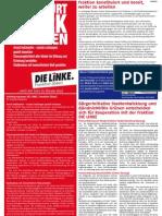 Anzeige DIE LINKE im Blickpunkt Oktober 2008
