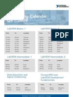 Training Calendar q4 National Instruments