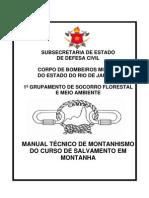 MANUAL TÉCNICO DE MONTANHISMO DO CURSO DE SALVAMENTO EM MONTANHA (CBMERJ)[1]