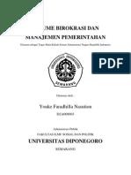 Resume Birokrasi Dan Manajemen Pemerintahan Sankri