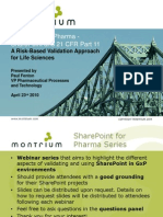 Share Point for Pharma Webinar 1 Share Point and 21 Cfr Part 11