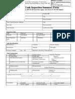 API Tank Inspection Form