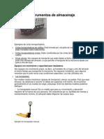 Instrumentos de Almacenaje (.Doc, .Docx)