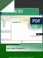 Maxwell3D User Manual