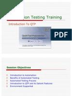 QTP - Automation Testing Training