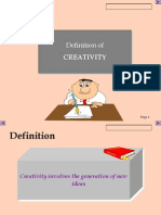 Creativity Ppt