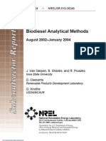 Biodiesel Analytical Methods