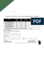 Order Form Easter 2012