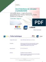 Rapport complet Baromètre Intention de vote Vague15