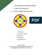 Per Banding An Perhitungan Harga Pokok Secara Konvensional Dan Activity Based Costing
