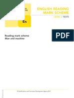 Ks2 English 2011 Level 6 Reading Marking Scheme
