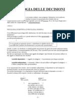 Appunti Psicologia Delle Decisioni(1)