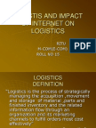 Logistis and Impact of Internet on Logistics
