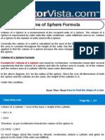 Volume of Sphere Formula