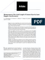 Measurement of the Axial Length of Cataract Eyes by Laser Doppler Interferometry