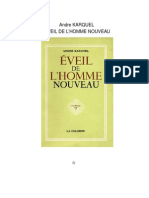 Andre KARQUEL EVEIL DE L'HOMME NOUVEAU