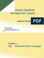 Ch01 Advanced Database mgmt Iyad Zaarour