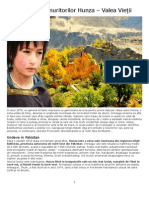 Pakistan - Tarâmul nemuritorilor Hunza – Valea Vieţii