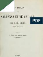 Charles Giraud Les Tables de Salpensa Et de Malaga 1856