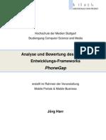 Analyse und Bewertung PhoneGap