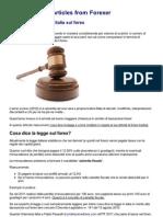 Tassazione e Leggi in Italia Sul Forex